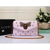 Bailianyi : GUCCI Rivet Summer Bags Chain Lock Messenger Bags Shoulder Bag