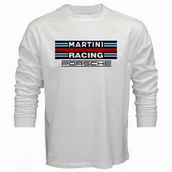 MARTINI RACING PORSCHE T-SHIRT men long sleeve tshirt white tee shirt S - XL
