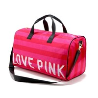 fashion Folding Travel Bag Large Capacity Waterproof pink shouder Bag Weekend Bag Travel Duffle Tote Bag Women casual handbag