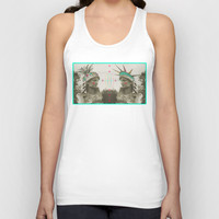 Pineapple architecture 3 : statue of liberty Unisex Tank Top by AmDuf
