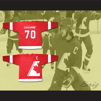Xavier LaFlamme 70 Canada Hockey Jersey NEW from Goon Movie Includes Captain Patch