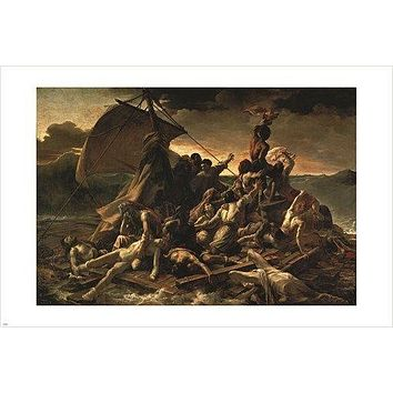 RAFT OF THE MEDUSA vintage painting art poster GERICAULT 1819 24X36 classic