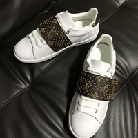 LV Louis Vuitton Women Trending White Casual Sneaker Shoes AAA Best Quality