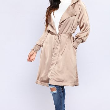 Upper West Side Satin Jacket - Nude