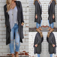 Winter new knitted long-sleeved cardigan jacket coat