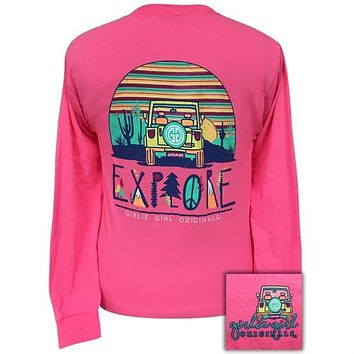 Girlie Girl Originals Jeep Explore Long Sleeve T-Shirt