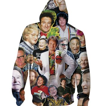 Robin Williams Zip-Up Hoodie