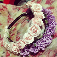 Lovely Floral Headbands by LoveDarkParadise on Etsy