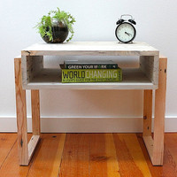 Pallet Nightstand  Reclaimed Modern by TheDesignPallet on Etsy