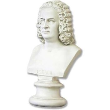 Bach Classical Music Composer Portrait Bust Medium 17H