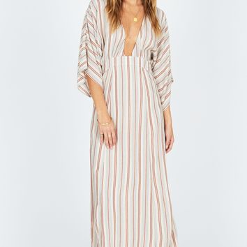 Women's Amuse Society Forever and A Day Striped Maxi Dress