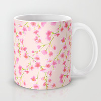 Cherry Blossoms Pink on Pink (For Mackenzie) Mug by Jacqueline Maldonado