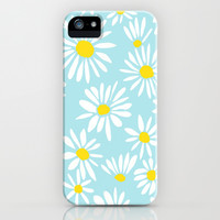 White Daisies iPhone & iPod Case by Art Tree Designs