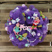 Deco Mesh Christmas Elf Wreath End of Season Sale!!