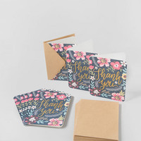 Gold Foil Floral Thank You Cards