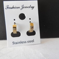 Small Stainless Steel Hoop Pierced Earrings - Your Choice