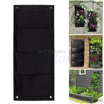 1pc 4-18-Pockets  Hanging Wall Garden - Planting Bags - Vertical Outdoor/Indoor Planter