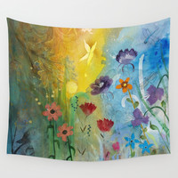 Butterfly Wall Tapestry by Robin Maria Pedrero