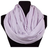 Soft and Smooth Violet Infinity Scarf, Purple, Loop, Women's Accessories
