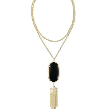 KENDRA SCOTT - Rayne Gold Necklace in Black