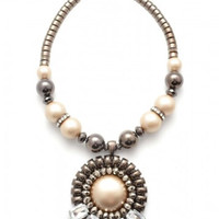 Pearl Pendant Statement Necklace