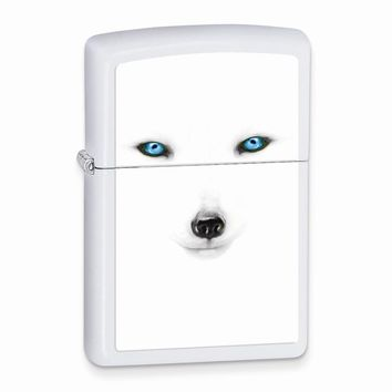 Zippo Artic Fox White Matte Lighter - Engravable Personalized Gift Item
