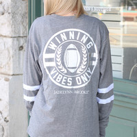 Jadelynn Brooke: Winning Vibes Only Jersey {Grey}