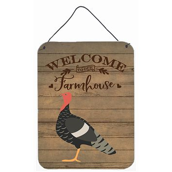 Marragansett Turkey Welcome Wall or Door Hanging Prints CK6931DS1216