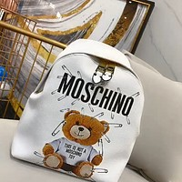 Moschino simple bear print backpack for men and women