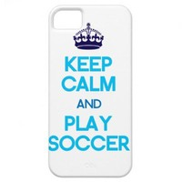 Keep Calm And Play Soccer (Blue) iPhone 5 Covers from Zazzle.com