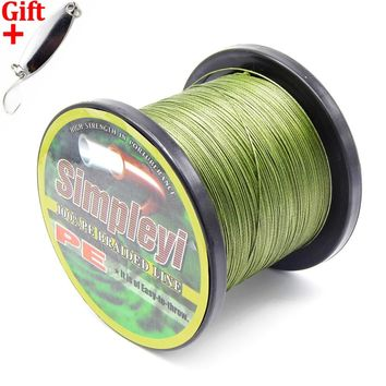 Simpleyi Lure As Gift 1000m 8 Stands X8 Multifilament Pe Braided Fishing Line Tackle 10lb - 80lb 90lb 100lb 120lb To 300lb Wire