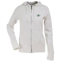 NFL Women's Green Bay Packers Signature Full Zip Hood (White, Medium)