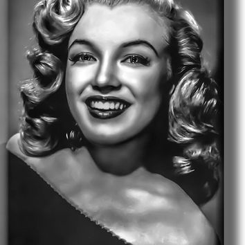 Marilyn Monroe Black and White Vintage Picture on Acrylic , Wall Art Décor, Ready to Hang