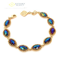Kendra Scott Jana Line Bracelet in Black Iridescent