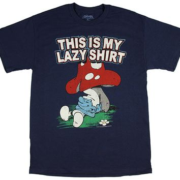 The Smurfs This is My Lazy Shirt Men's T-Shirt