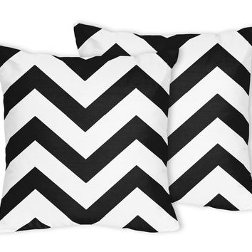 Sweet Jojo Designs Chevron Accent Throw Pillows (Set of 2)
