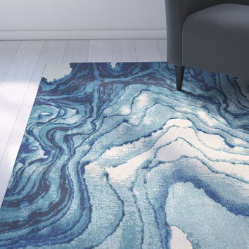 Zipcode™ Design Angeline Blue Area Rug You'll Love | Wayfair