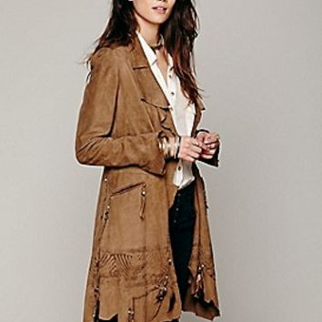 Nigel Preston & Knight Rock Me Suede Coat at Free People Clothing Boutique