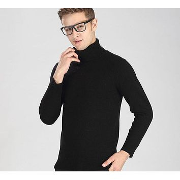 Thick Warm Wool Turtleneck Sweater
