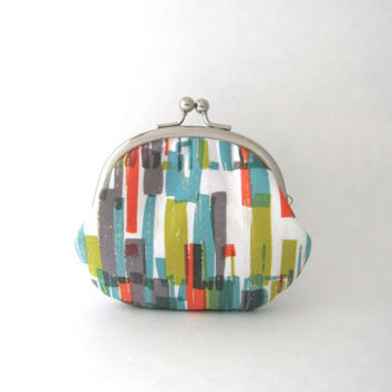 Coin Purse -multi color stripe