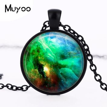 1pcs/lot Orion Nebula Logo Pendant Necklace Galaxy Silver Pated Vintage Necklace Universe Space Jewelry Friend Gift HZ1