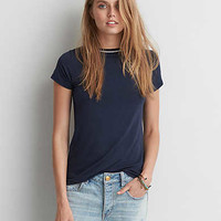 AEO Soft & Sexy Ringer T-Shirt, Navy