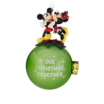 Disney Parks Minnie & Mickey Our Christmas Together Ball Ornament New with Tags