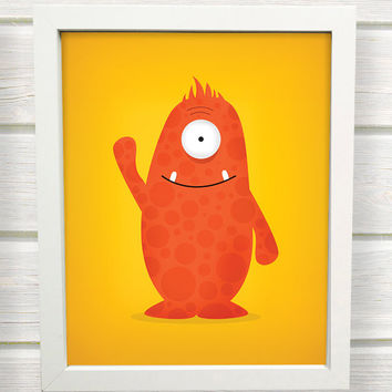 Monster Nursery Wall Art Prints / 8x10 inch / baby boy / boy's room decor / kids art