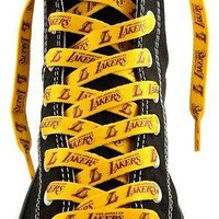 "Los Angeles Lakers Pair of 54"" Shoe Laces"