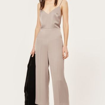 Strappy Satin Jumpsuit