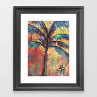 Palm Tree Framed Art Print by Express Yourself Studios, LLC