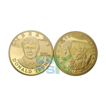 5pcs/lot Sample order 2016 US Republican Presidential New York Candidate Trump Gold plated Metal Craft Souvenir Coin