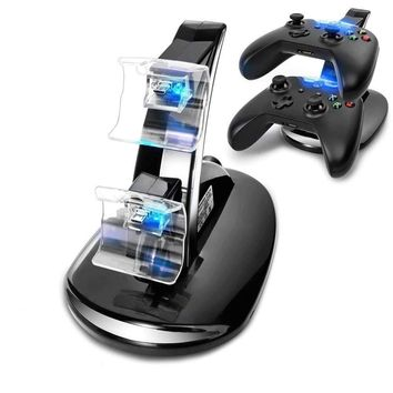 For Xbox One Wireless Game Controller Charging Station Dual LED Micro USB Charger Dock Microsoft Xbox One Controllers