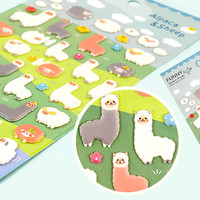 Buy Kawaii Alpaca & Sheep Sponge Stickers at Tofu Cute